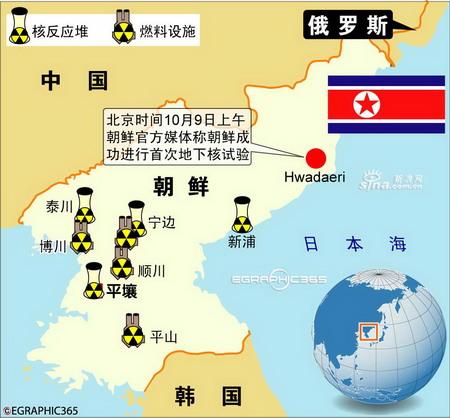 图表:朝鲜进行首次核试验
