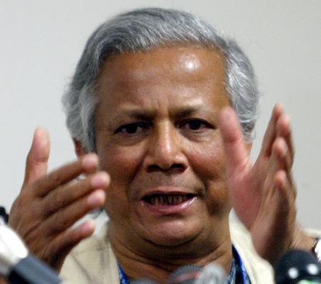 孟加拉银行家和格拉明银行共享诺贝尔和平奖