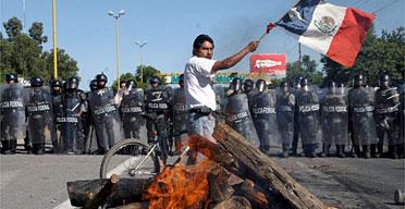 墨西哥瓦哈卡暴力冲突升级上千防暴警察出动