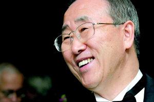 潘基文宣誓就任联合国秘书长将打太极处理朝核