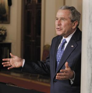 女议长向布什开了第一炮