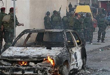 黎巴嫩两派大学生发生暴力冲突(组图)