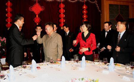 金正日与中国外交官共度元宵佳节(组图)