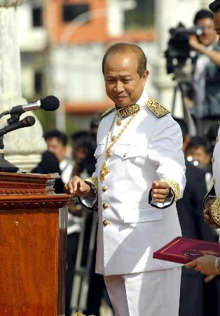 柬前首相拉那烈被判18个月徒刑(图)