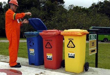 循环使用的垃圾桶