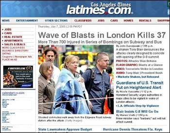 组图:世界各国主要媒体报道伦敦爆炸事件