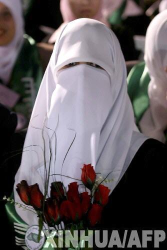 组图:哈马斯举办集体婚礼