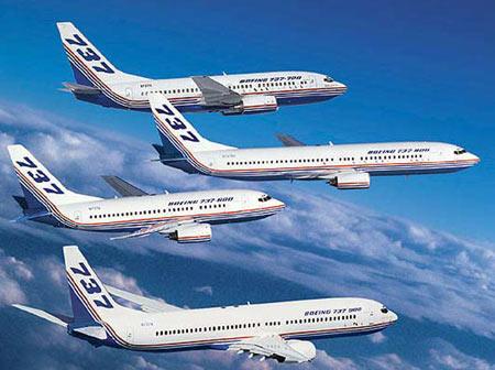 资料图片:波音737飞机家族