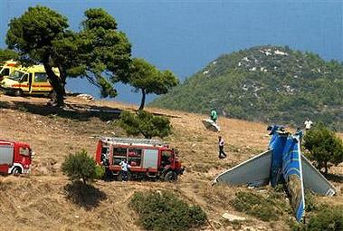 图文:塞浦路斯客机坠毁救援现场