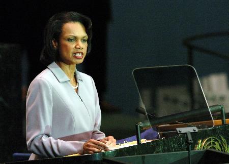 图文:赖斯呼吁联合国立即着手改革
