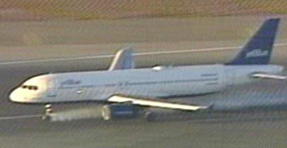 航空公司一架空客a320型飞机因前起落架出现故障