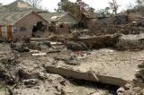 图文:新奥尔良市一个经历了洪水飓风的居民区