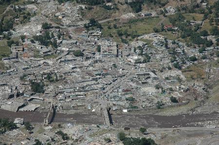 图文:巴控克什米尔首府穆扎法拉巴德震后惨象