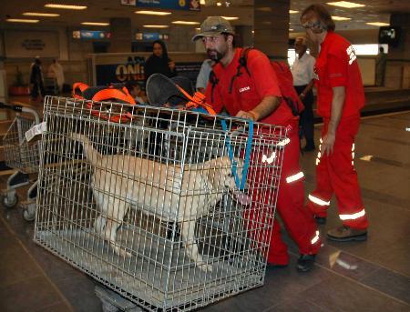 图文:土耳其国际救援队抵达伊斯兰堡