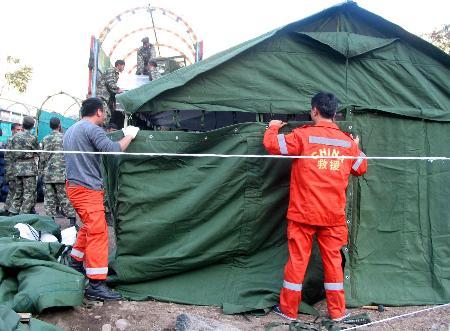 组图:中国国际救援队重返巴地震重灾区