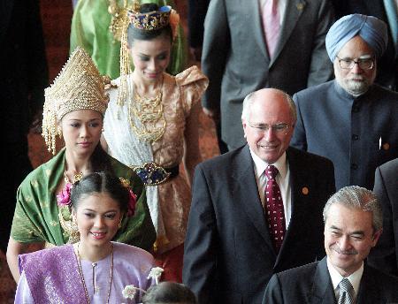 图文:澳大利亚总理霍华德出席签字仪式