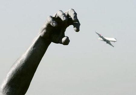 图文:美国重新开放里根国际机场专用航班