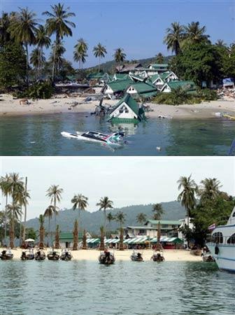图文:泰国旅游胜地披披岛对比