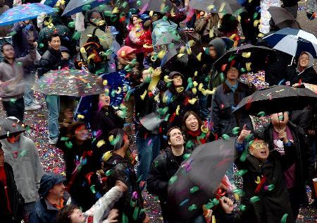 图文:纽约唐人街彩狮狂舞