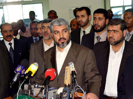 图文:哈马斯政治领导人参加记者招待会