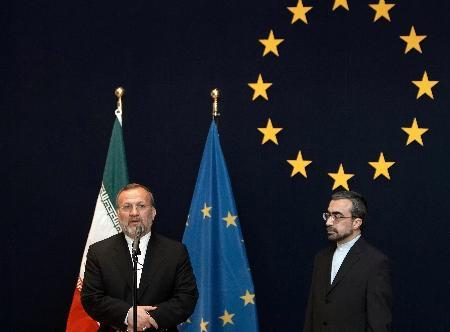 图文:伊朗外长访问欧盟总部