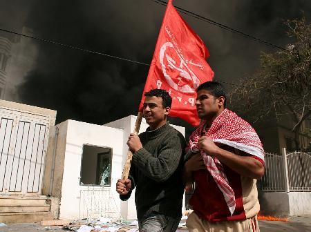 图文:巴勒斯坦武装人员袭击外国驻加沙机构