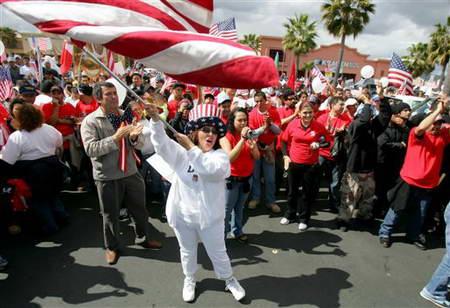 美国200万人游行要求停止驱逐非法移民(组图)