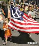 组图:纽约民众大游行反对伊战与攻打伊朗