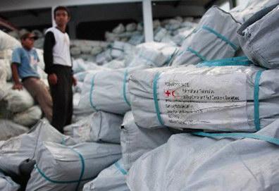 图文:救援物资抵达灾区