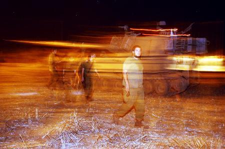 图文:以军士兵在为进入加沙做准备