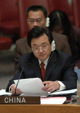 图文:中国常驻联合国副代表在安理会上发言