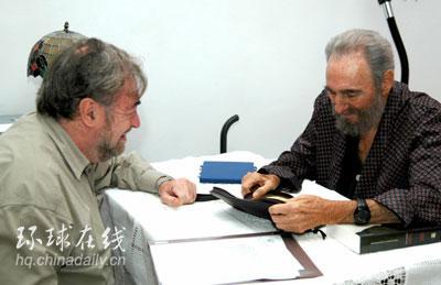 组图:卡斯特罗会晤阿根廷议员