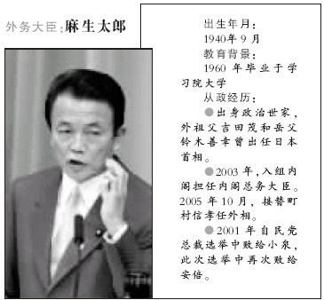 安倍当选首相主攻外交改革几大阁员亮相(组图)
