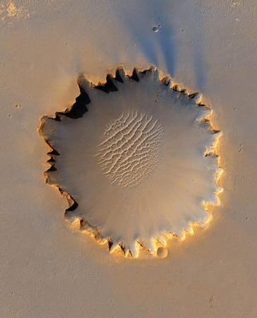 组图:科学家设计路线机遇号将勘测火星坑