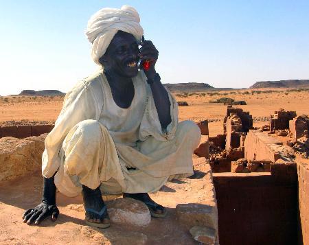 图文:苏丹首都喀土穆以北一处神庙遗址