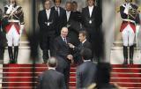 萨科齐正式成为法国总统 希拉克离开爱丽舍宫