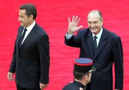 组图:法国举行总统权力交接仪式