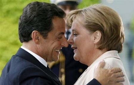 法国总统萨科齐上任首日访问德国(图)