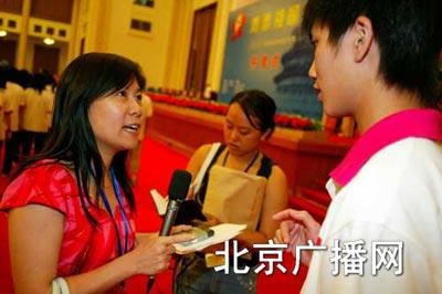 北京新闻广播大型高招咨询活动主持人延红(图)