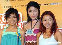 组图:陈慧琳出席香港TVB周刊封面女郎选举活动