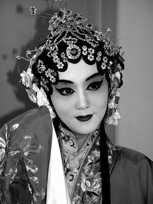 张娜拉着传统服装现身京城慈善活动献爱心(图)