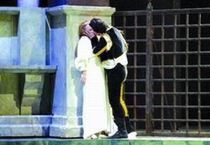 罗密欧朱丽叶台上激吻国际音乐节开幕(组图)