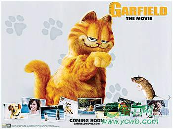 《加菲猫》跳上广州大银幕(组图)