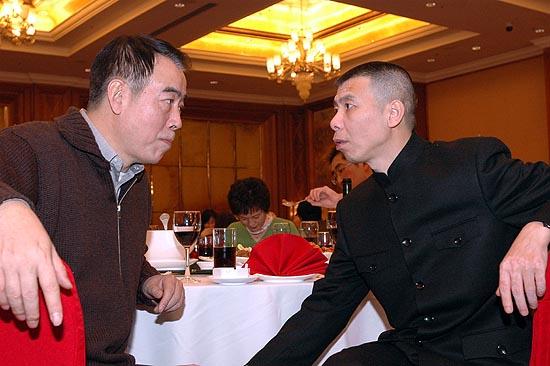 众导演于酒店举行庆功宴-陈凯歌冯小刚面对面