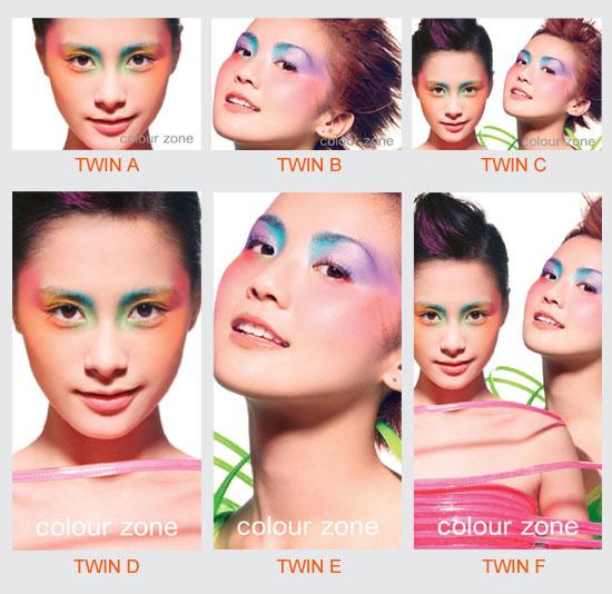 资料图片:Twins最新彩妆造型(2)