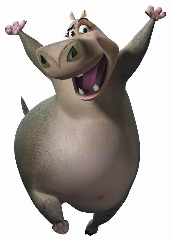 资料图片:动画片《马达加斯加》动物造型(15)