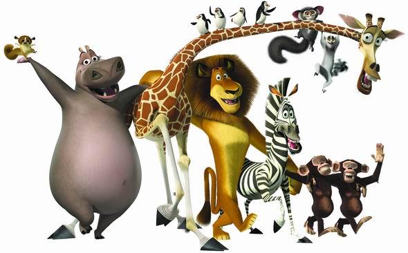 资料图片:动画片《马达加斯加》动物造型(22)