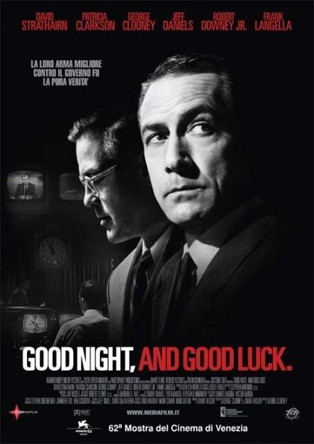 资料图片:影片《晚安,好运》海报(1)