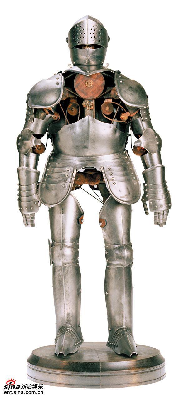 独家图片:《达芬奇密码》-达芬奇设计的机器人
