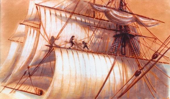 资料图片:影片《加勒比海盗》手绘图稿(11)